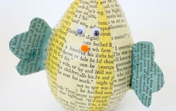 Book Page Easter Egg Chicks