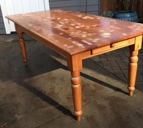 Thrifted Farm Table Makeover, Painted Furniture