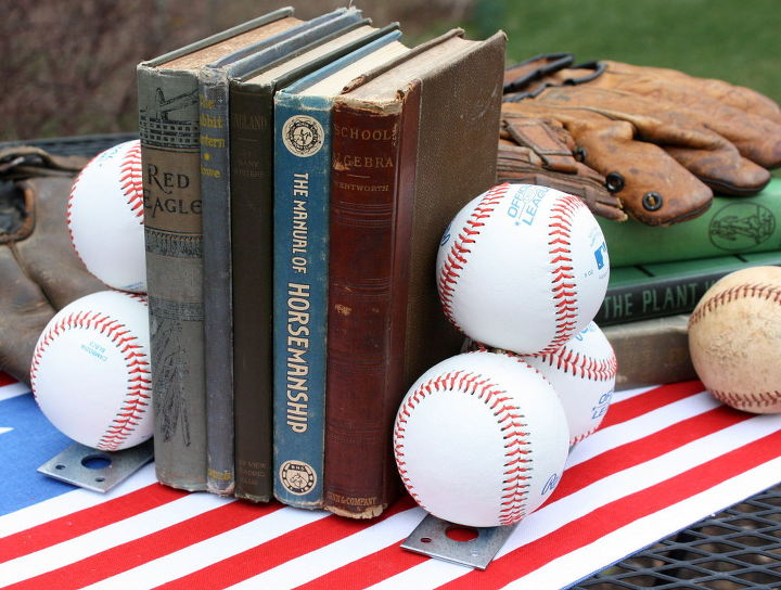 diy baseball bookends, crafts, diy, repurposing upcycling
