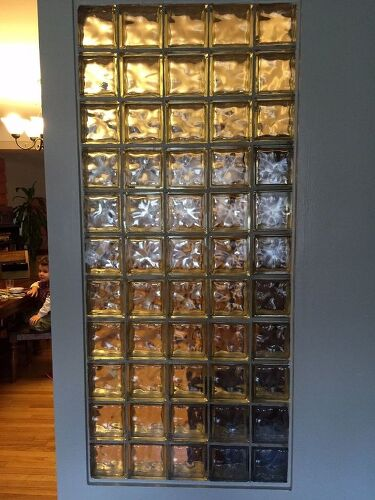 Covering Up A Glass Block Wall Hometalk