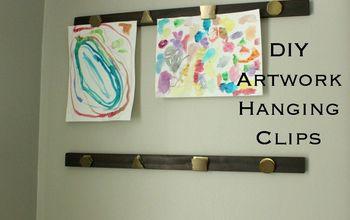 diy artwork hanging clips, crafts, wall decor
