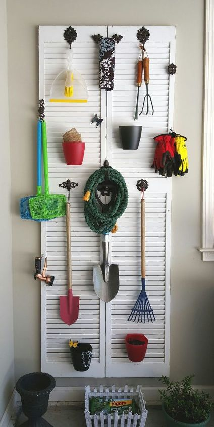 s 12 clever garage storage ideas from highly organized people, garages, organizing, storage ideas, Organize everything on an old door