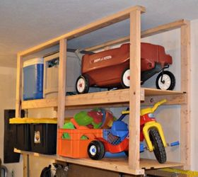 Hang Ceiling Mounted Shelves For Bigger Items