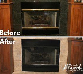 Updating a brass fireplace