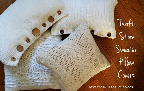 Thrift Store Sweater Pillow Covers Tutorial Hometalk
