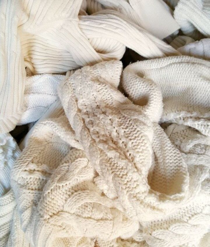 thrift store sweater pillow covers tutorial, crafts, diy, repurposing upcycling, reupholster