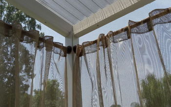 outdoor curtain rods for aluminum screen room, outdoor living, reupholster