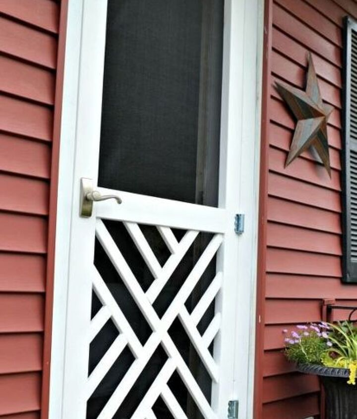 s 11 quick and easy curb appeal ideas that make a huge impact, curb appeal, Build your own pretty screen door