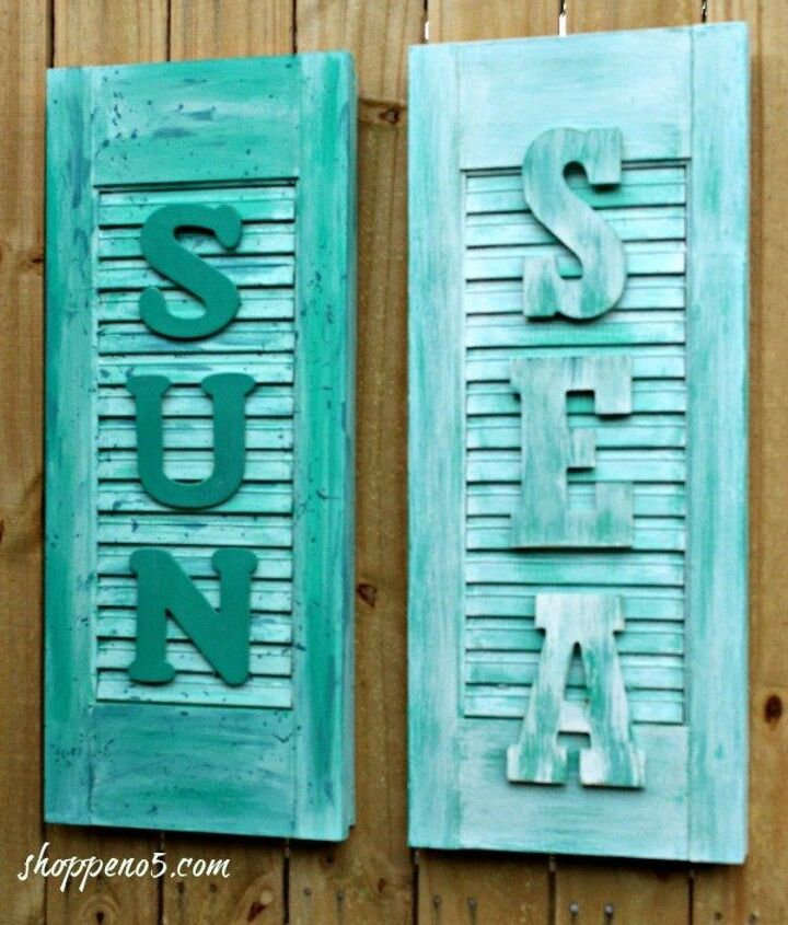 s 11 quick and easy curb appeal ideas that make a huge impact, curb appeal, Turn some old shutters into welcome signs