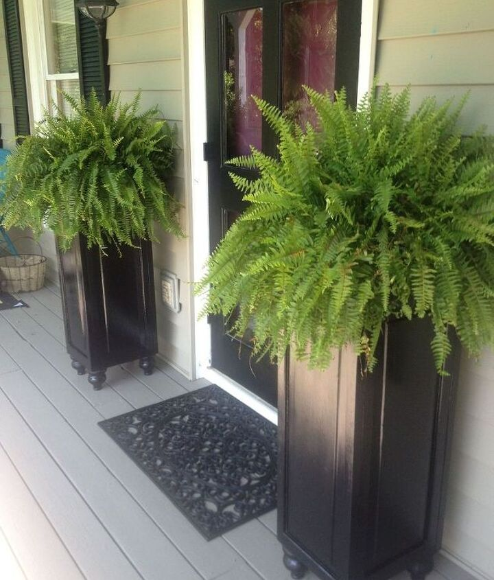 s 11 quick and easy curb appeal ideas that make a huge impact, curb appeal, Upcycle old doors into tall porch planters