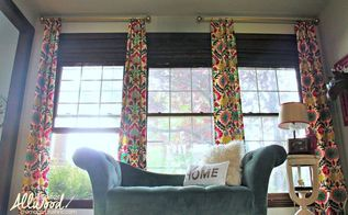 the happiest no sew office curtains in the world, reupholster, window treatments, windows
