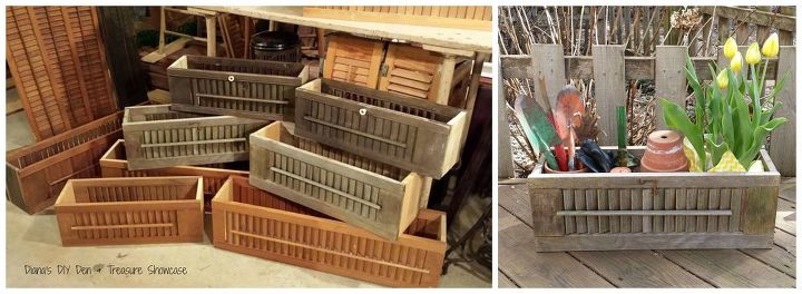 repurposed shutter box planters, container gardening, diy, gardening, repurposing upcycling, woodworking projects