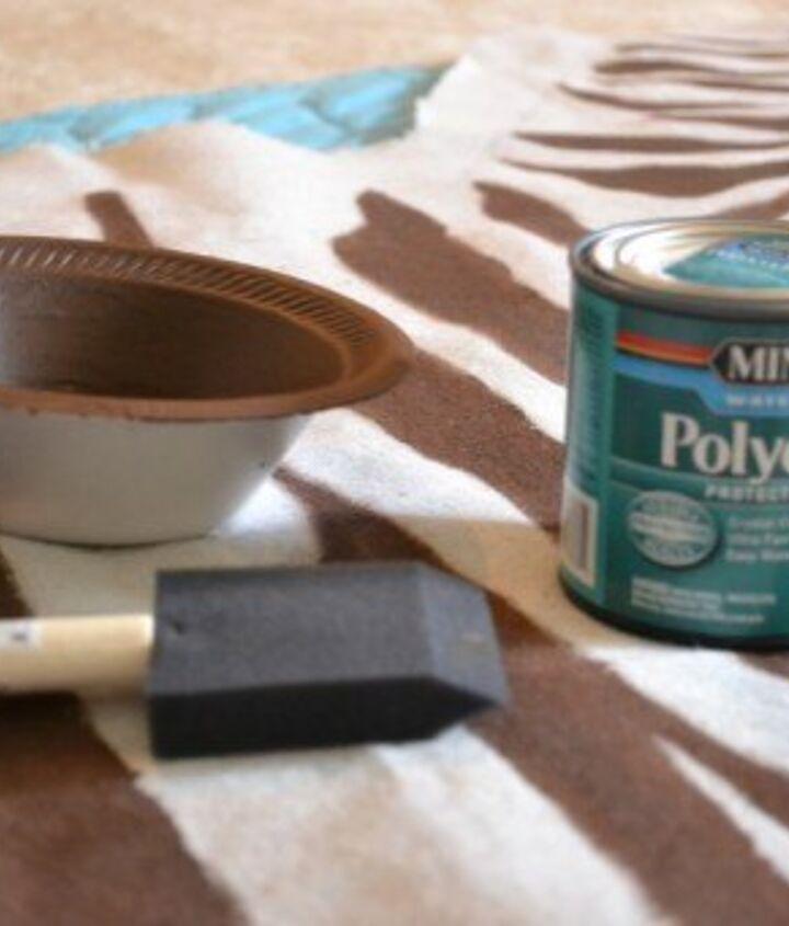 drop cloth zebra hide rug, crafts, home decor