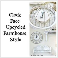 farmhouse clock, crafts, how to, repurposing upcycling, wall decor
