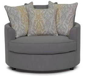I Really Like The Large Round Cuddle Chairs In Furniture Stores Now. Does  Anyone Have An Idea To Make One On Their Own? I Originally Thought Maybe A  Used ...