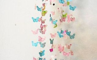 baby shower gift wrap paper and ribbon butterflymobile, bedroom ideas, crafts