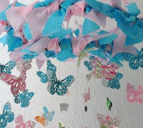 Baby Shower Gift Wrap Paper and Ribbon ButterflyMobile | Hometalk