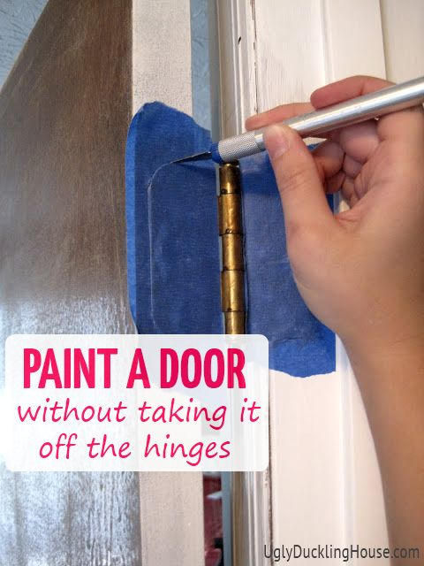 how to paint a door on hinges, doors, painting