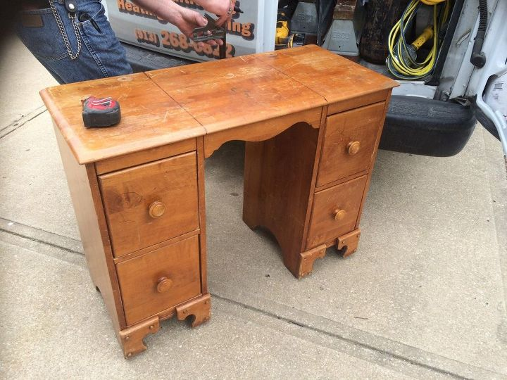 from an old desk to gorgeous night stands, diy, painted furniture, repurposing upcycling, woodworking projects
