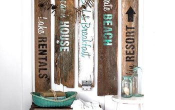 Instant Beach Signs From Old Fence Boards!