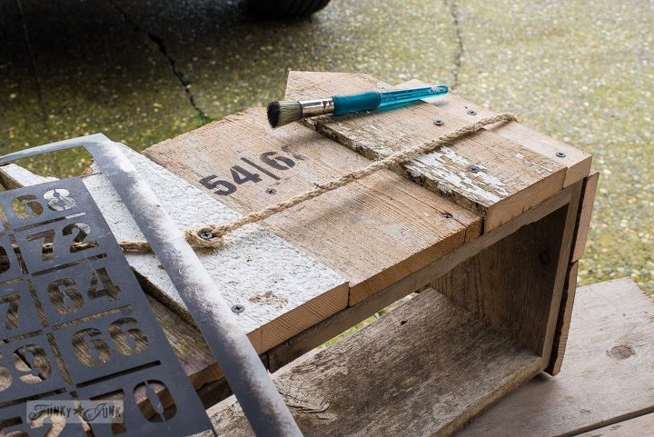 a mantel gets springed up with one wood scrap happy window box, fireplaces mantels, repurposing upcycling, woodworking projects