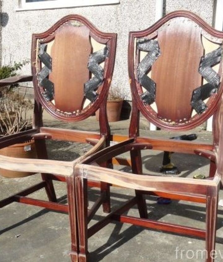 diy french style seat made from two old chairs, diy, painted furniture, repurposing upcycling, woodworking projects
