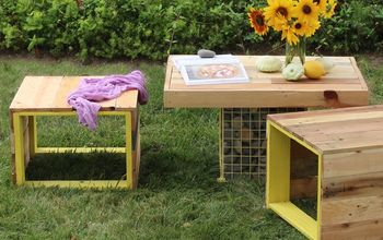 s 15 pallet coffee tables that look way too good to be diy, painted furniture, pallet
