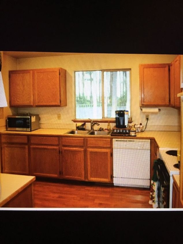 "I got too excited to take ""before"" pics, but this was the pic provided by the real estate agent who listed this house"