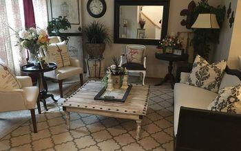 a designer living room on a budget by a garage sale diy junkie, home decor, living room ideas