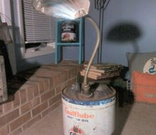 repurposed gulf oil canister, lighting, repurposing upcycling