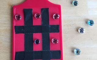 easy tic tac toe game great for travel gift idea backyard etc, crafts