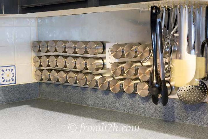diy magnetic spice rack, organizing, storage ideas