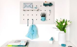 multitasking diy one peg board thousands of possibilities, craft rooms, crafts, diy, home office, organizing