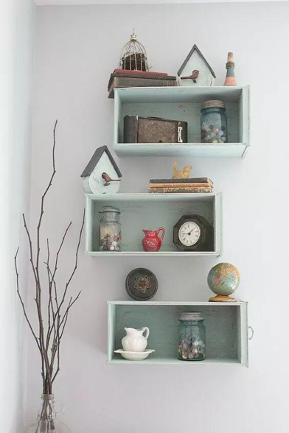 Rainbow Bookshelf Wall