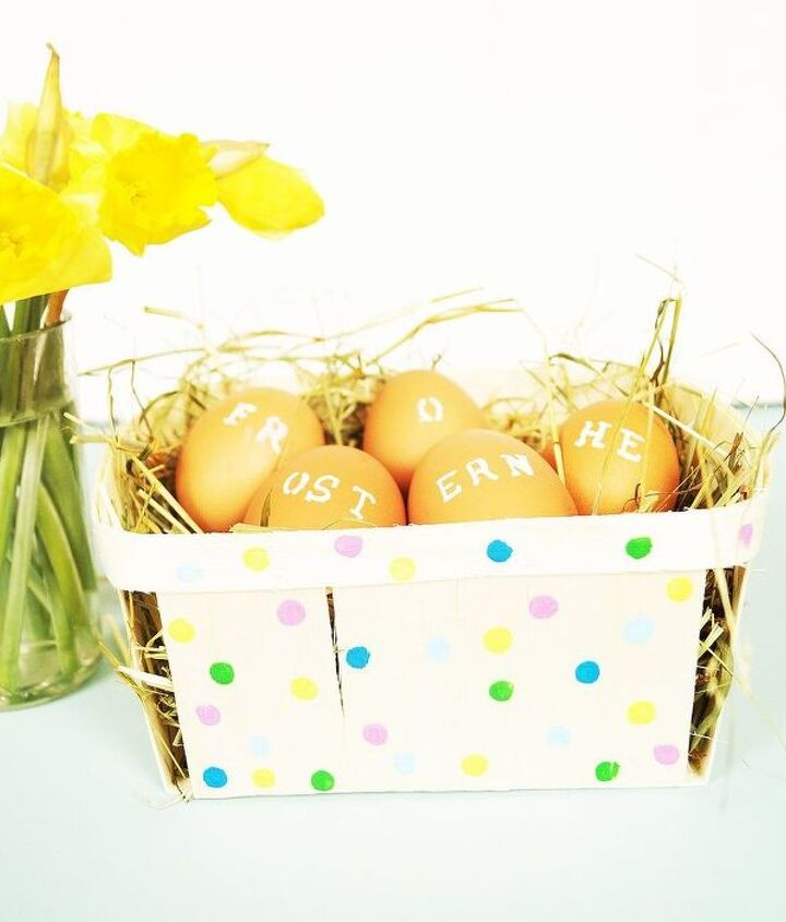 last minute easter basket, crafts, easter decorations, repurposing upcycling, seasonal holiday decor