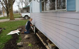 skirting a mobile home, diy, home improvement, home maintenance repairs, how to