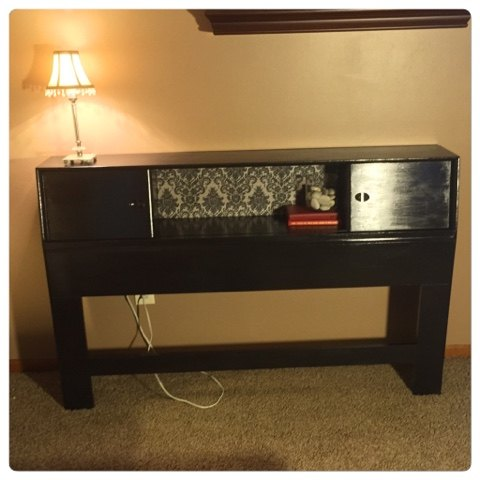 Bookcase Headboard To Hall Table Painted Furniture Repurposing Upcycling