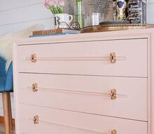 henredon mini bar w diy lucite hardware, painted furniture