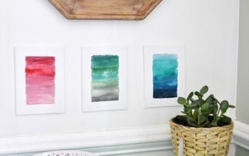 Ombre Watercolor Canvas DIY