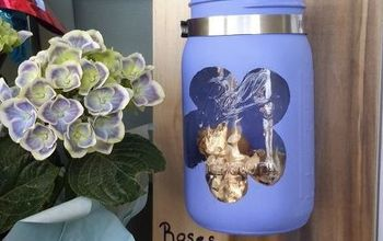 Sweet Mason Jar Flower Catcher to Put Flowers From Your Kids