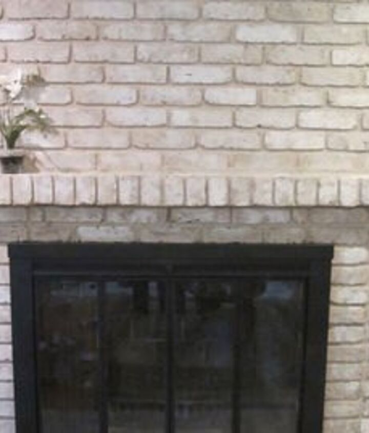 how to paint an old brick fireplace, fireplaces mantels, painting