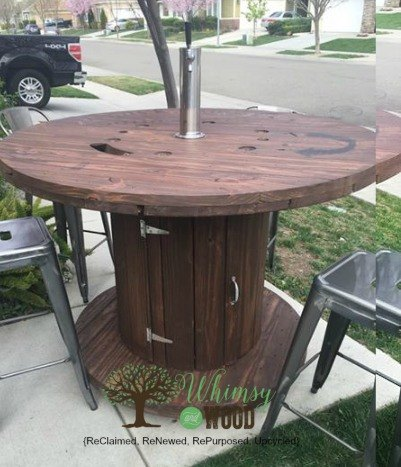 Patio Party Cable Spool Upcycled With Style Hometalk