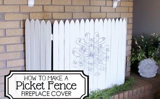 diy picket fence fireplace cover, diy, fences, fireplaces mantels, how to, repurposing upcycling
