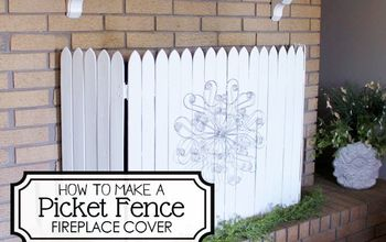 DIY Picket Fence Fireplace Cover