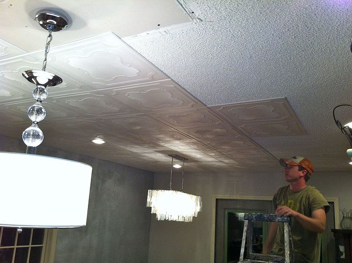 s 15 of the most popular homeowner fixit hacks on the internet, home maintenance repairs, Cover that popcorn ceiling in foam tiles