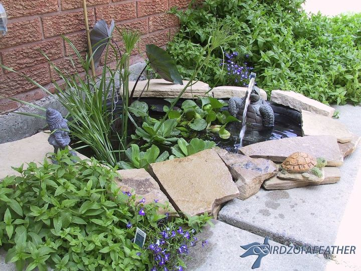 create a small water feature, curb appeal, diy, home improvement, ponds water features