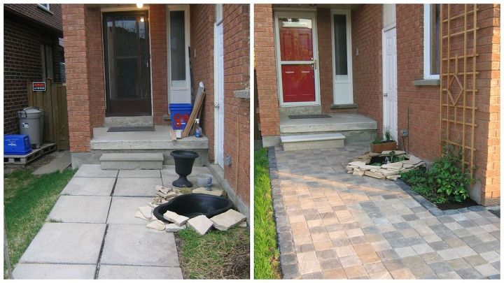 B4 and after of walkway and pond