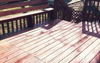 Staining a Deck + Lattice