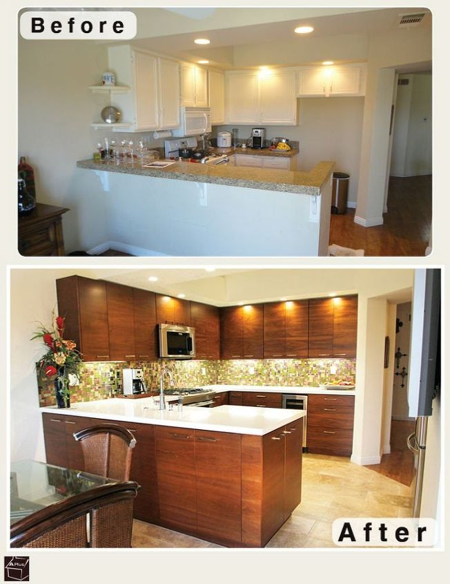 Small Kitchen Remodel With Custom Cabinets Home Improvement Design