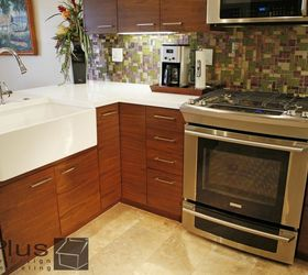 Lovely Small Kitchen Remodel With Custom Cabinets, Home Improvement, Kitchen  Cabinets, Kitchen Design